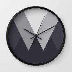 Sawtooth Inverted Blue Grey Wall Clock