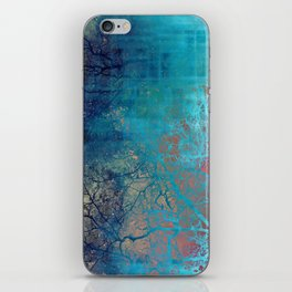 On the verge of Blue iPhone Skin