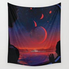 NASA Retro Space Travel Poster #13 - TRAPPIST-1e Wall Tapestry