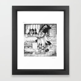 Good old fashioned Gnome cooking Framed Art Print