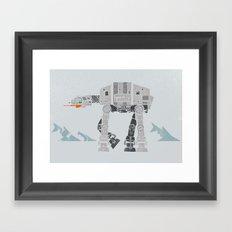 At-At Attack Framed Art Print
