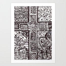 Fear not little flock Art Print