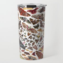 Moths of North America Pattern Travel Mug