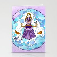 libra Stationery Cards featuring Libra by Sandra Nascimento