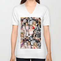 jennifer lawrence V-neck T-shirts featuring Jennifer Lawrence by lastminutebinge