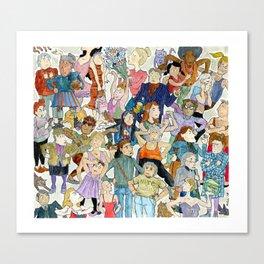 Women Queuing Canvas Print