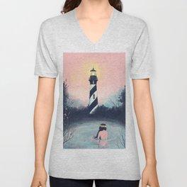 Lighthouse Girl Unisex V-Neck