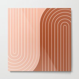 Two Tone Line Curvature XXIX Metal Print