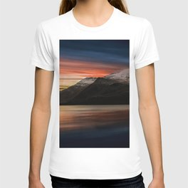 Lake Sunset Snowdonia T-shirt