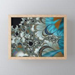 Snow Moons Fractal Framed Mini Art Print
