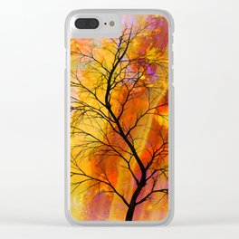 the naked tree Clear iPhone Case