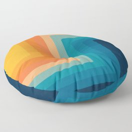 Retro 70s Color Lines Floor Pillow