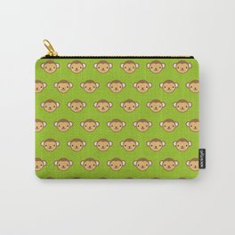 Monty the Monkey Pattern Carry-All Pouch