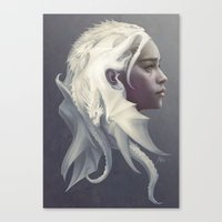 game Canvas Prints featuring Mother of Dragons by Artgerm™