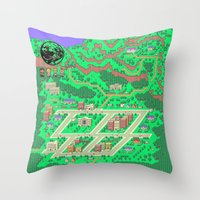 earthbound Throw Pillows featuring Earthbound by Fred Vilair
