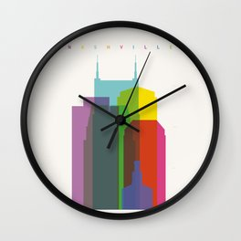 Shapes of Nashville Wall Clock