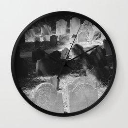 Granary Burying Ground by David Hohmann Wall Clock