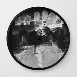 Granary Burying Ground by David Hohmann Wall Clock