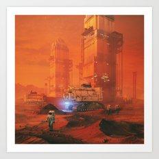 SPACEX.MARS.BASE01 (everyday 08.20.17) Art Print