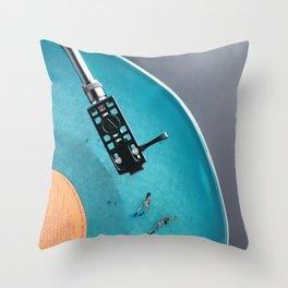 Vinyl in VR Throw Pillow