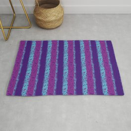 Messy Stripes in Purple, Fuchsia and Blue Rug