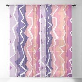 80s Zigzag 2 Sheer Curtain