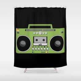 Retro Ghetto Blaster Shower Curtain