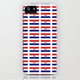 Flag of croatia 2 -croatian, Hrvatska,croat,croacia,Zagreb,split,rijeka,osijek. iPhone Case