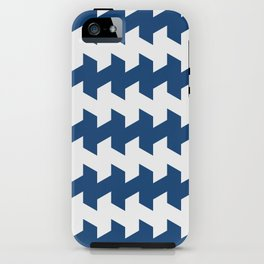 jaggered and staggered in monaco blue iPhone Case