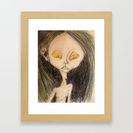 Lemon Eyed Framed Art Print