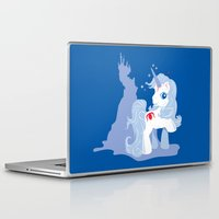 the last unicorn Laptop & iPad Skins featuring My Little Last Unicorn by Ashley Hay