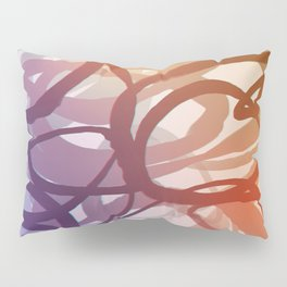 Abstract circling seeweed purple and red Pillow Sham