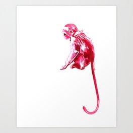 Monkeying Around! Ink Monkey Art Print