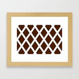 Cross Hatch Framed Art Print