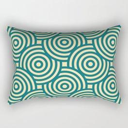 Seamless Circle Pattern Rectangular Pillow