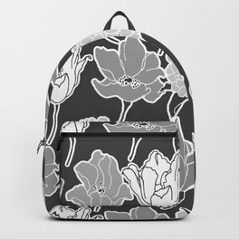 gray mekko floral Backpack