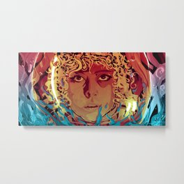 Ripley in another place (Orange/blue edition) Metal Print