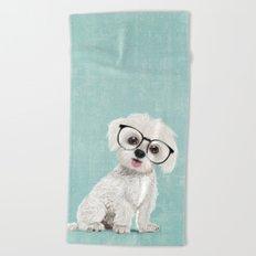 Mr Maltese Beach Towel