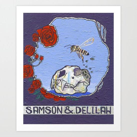 Samson & Delilah Art Print