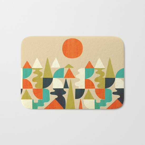 Mountains Hills and Rivers Bath Mat