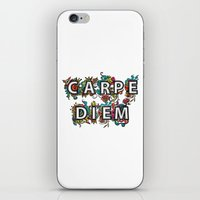 carpe diem iPhone & iPod Skins featuring Carpe Diem by Digi Treats 2