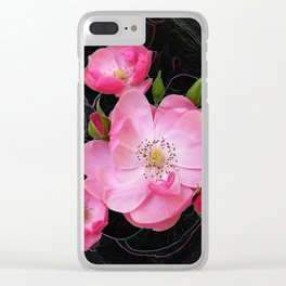 tiny rosebud opens Clear iPhone Case