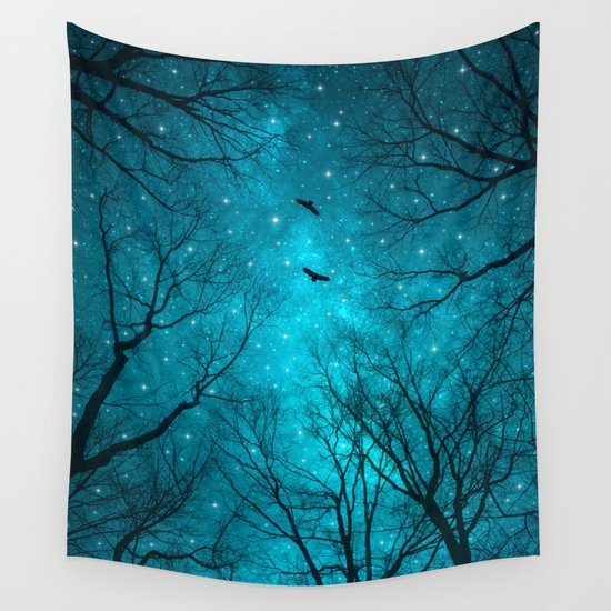 Stars Can't Shine Without Darkness Wall Tapestry