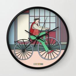 Steampunk Mustache Wall Clock