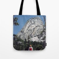 yosemite Tote Bags featuring Yosemite by Richard PJ Lambert