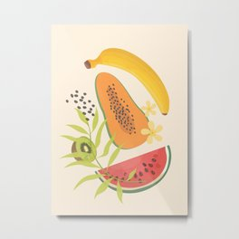 Tropical Fruits II Metal Print