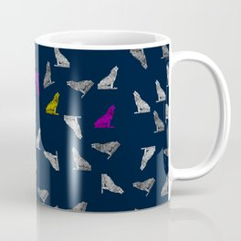Howling Wolves Pattern Coffee Mug