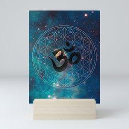Om & Flower of Life Mini Art Print