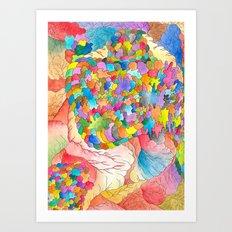 Clusters 3 Art Print