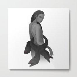 moray mermaid Metal Print